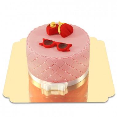 Deluxe Make-Up taart met rode zomer decoratie