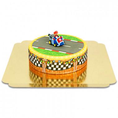 Mario Kart op graslandbaan taart