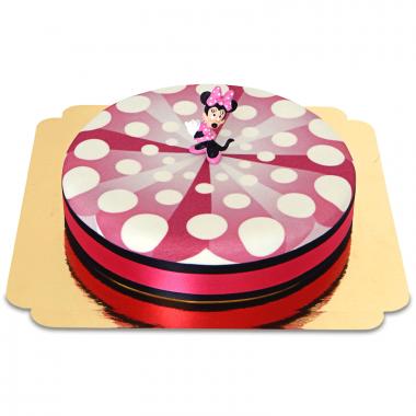 Minnie Mouse op taart met lint