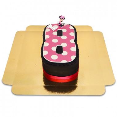 Cijfertaart met Minnie Mouse figuur