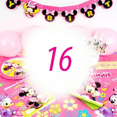 Partyset Minnie Maus voor 16 Personen - zonder taart
