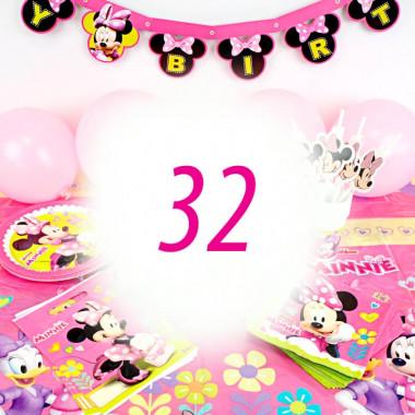 Partyset Minnie Mouse voor 32 Personen - zonder taart
