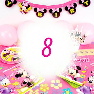 Partyset Minnie Mouse voor 8 Personen - zonder taart