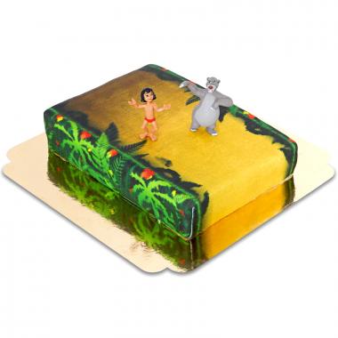 Mowgli en Baloo op Jungle taart