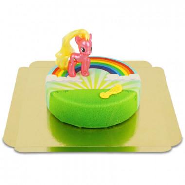 My little Pony Cherry Berry op regenboog taart