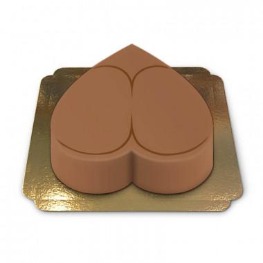Zoet, naakt achterste-taart (cappuccinokleur)