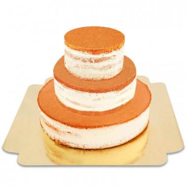 Naked Cake drie lagen