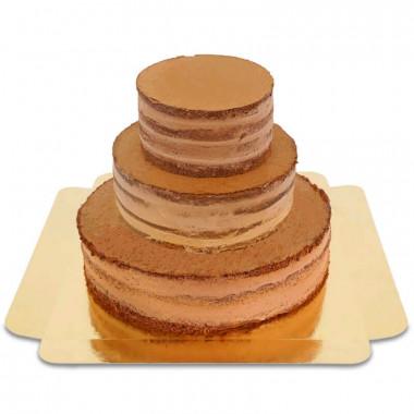Drielagige chcolade Naked Cake