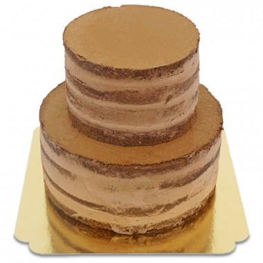 Chocolade Naked Cake tweedelig