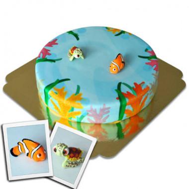 Nemo en Squirt op zee taart