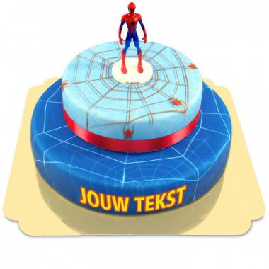 Spider-Man op twee-verdiepingen spinnenwebtaart met lint