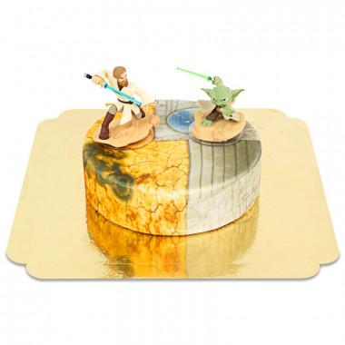 Obi-Wan Kenobi & Meester Yoda op Clone Wars taart