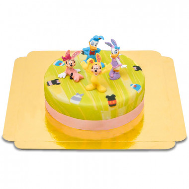 Disney Figuren op groene paas taart