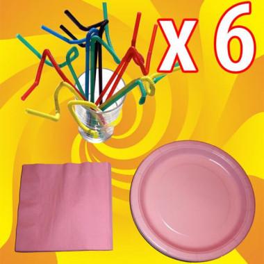 Party-Set, roze (6 stuks)
