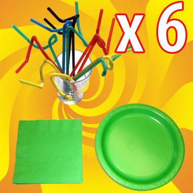 Party-Set, Groen (6 stuks)