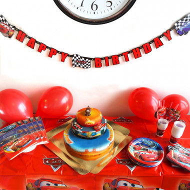 Partyset Cars - incl. taart