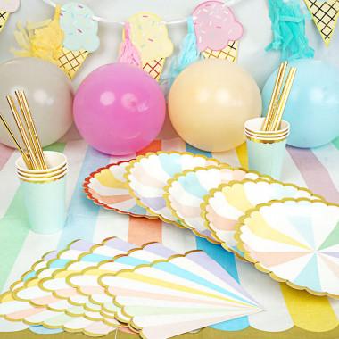 Party-Set Pastelkleurige verjaardag