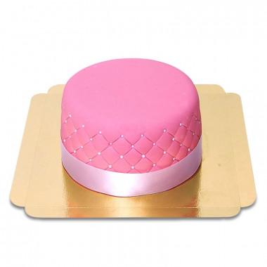 Roze Deluxe Taart - dubbele hoogte