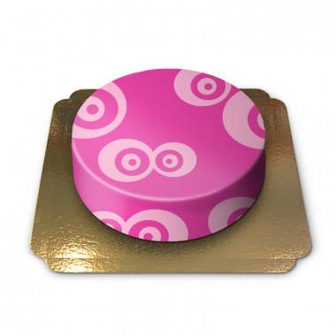 Roze patroon taart