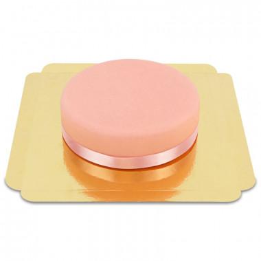 Roze taart met taartenlint