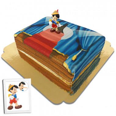 Pinokkio op het podium taart