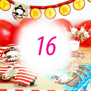 Piraten-Partyset voor 16 personen - zonder taart