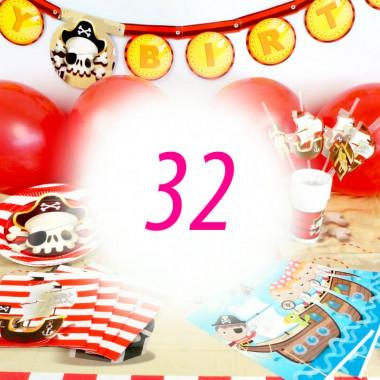 Piraten-Partyset voor 32 personen - zonder taart