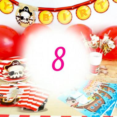 Piraten-Partyset für 8 Personen - zonder taart