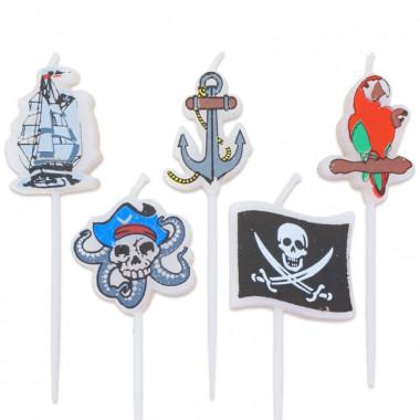 Piraten kaarsenset (5 Stuks)