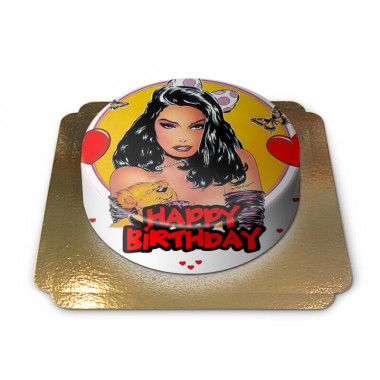 Sexy Happy Birthday Taart