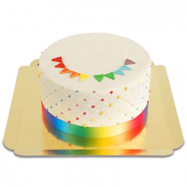 Pride Deluxe taart - dubbele hoogte