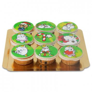 Chubby Unicorn Kerst-cupcakes