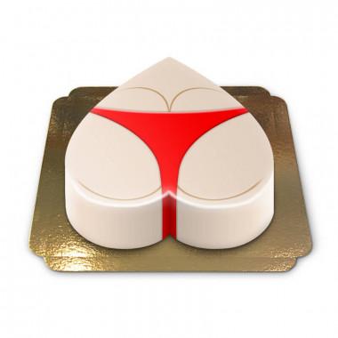 Rode bikini taart