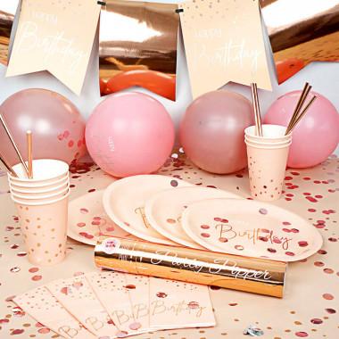 Party-set rosé goudkleurige verjaardag