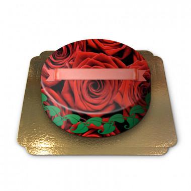 Rode rozen taart