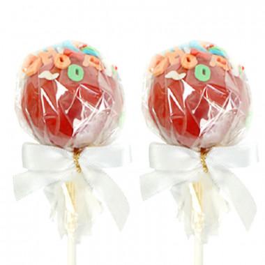 Rode Cake-Pops met Letters (12 Stuks)