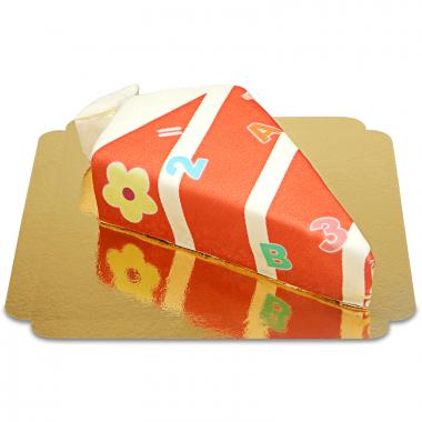 Snoepzakvorm taart met cijfers rood