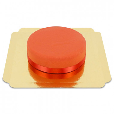 Rode taart met taartenlint