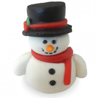 Sneeuwpop van marsepein