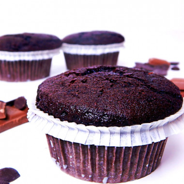 Chocolade-muffins, 9 stuks
