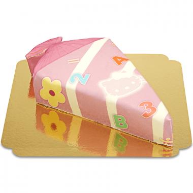 Snoepzakvorm taart met katje in roze