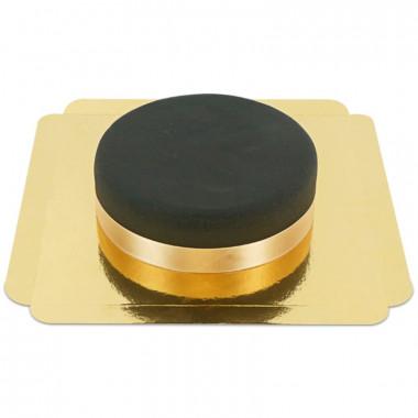 Zwarte taart met taartenlint