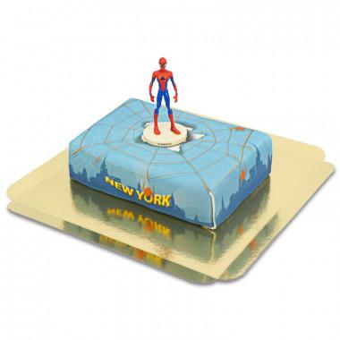 Spiderman op spinnenweb boven New York taart