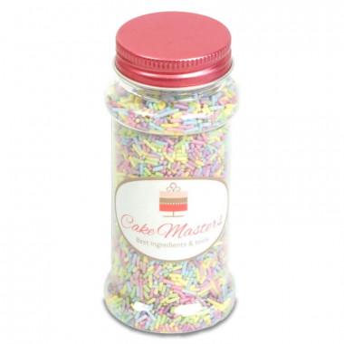Suiker sprinkles met pastelkleuren - 80g