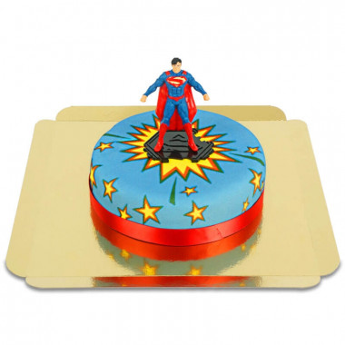 Taart met Superman-figuur