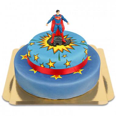 Superman op twee-verdiepingen Power-Taart