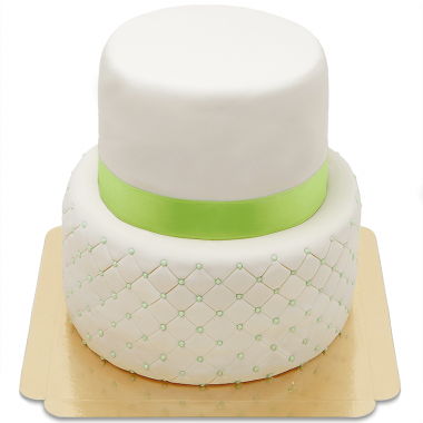 Happy Birthday Luxe Taart tweedelig - verschillende kleuren