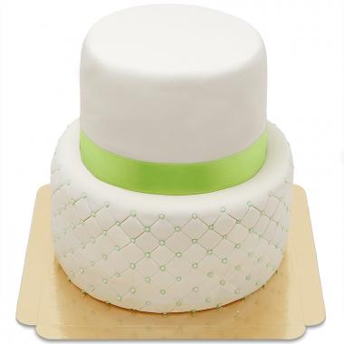 Happy Birthday Deluxe Taart tweedelig - verschillende kleuren