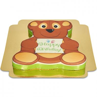 Verjaardagstaart in teddybeervorm