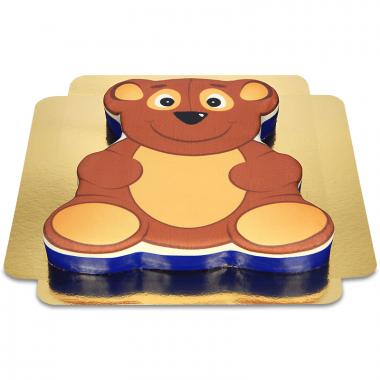 Taart in teddybeervorm